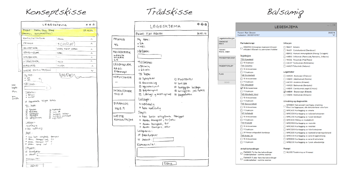 Concept development from hand drawn concept, to clickable balsamiq prototype